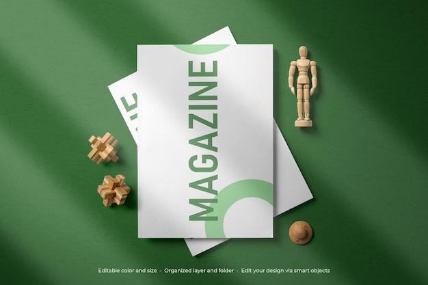 Branding papeteria czasopisma makieta okładki