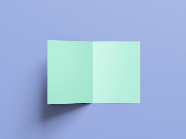 Broszura a4 bi-fold makieta widok z przodu