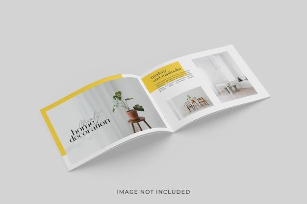 Broszura a5 bi-fold lub makieta magazynu