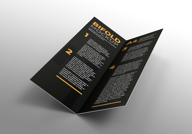 Broszura bifold makieta do reklamowania prezentacji firmowych
