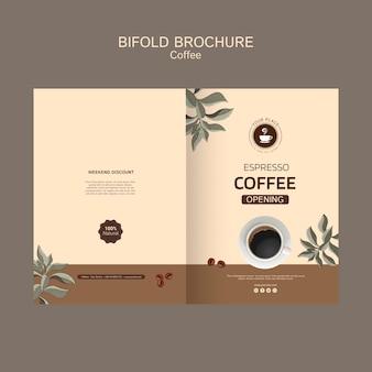 Broszura dotycząca kawy