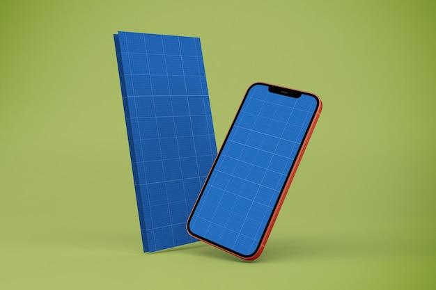 Broszura i makieta smartfona