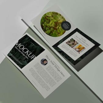 Broszura makieta projektu studia