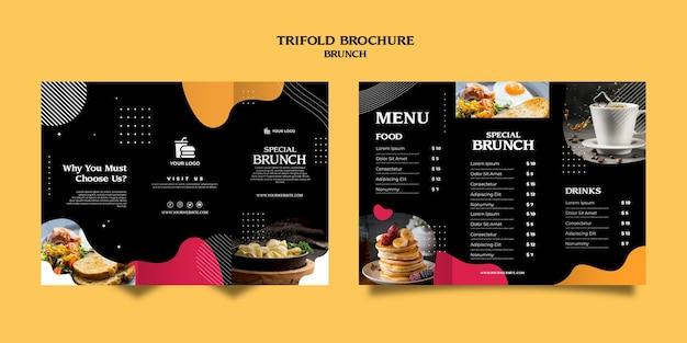 Brunch potrójny szablon broszury