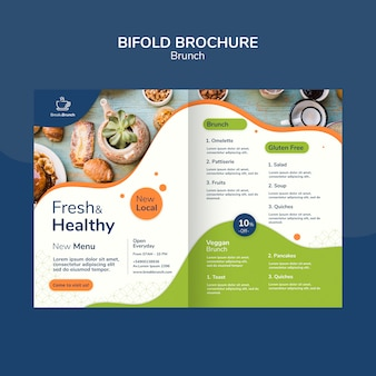 Brunch tematu dla szablonu broszury