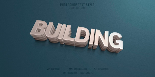 Budowanie szablonu efektu stylu tekstu 3d