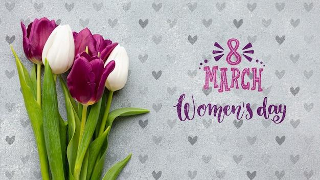Bukiet kwiatów na dzień kobiet
