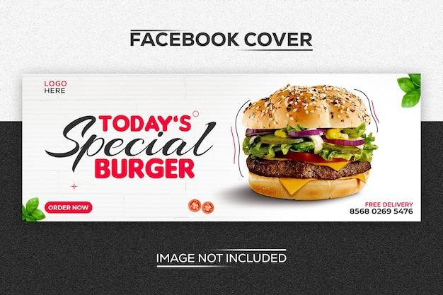 Burger nowoczesny szablon okładki na facebooku