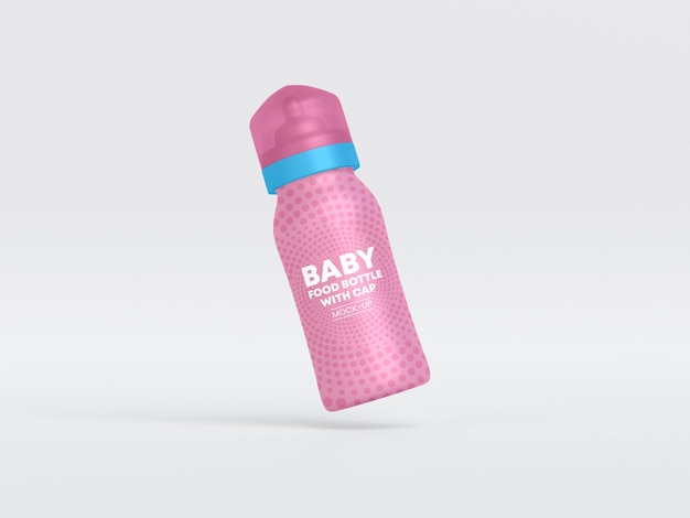 Butelka do karmienia dziecka z makietą czapki