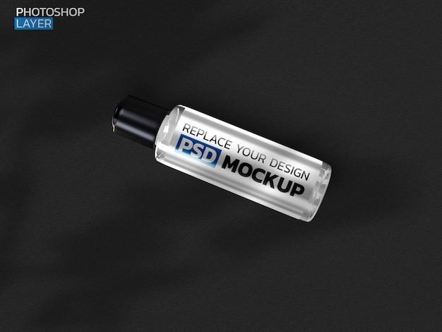 Butelka kremu kosmetycznego renderowania 3d makieta