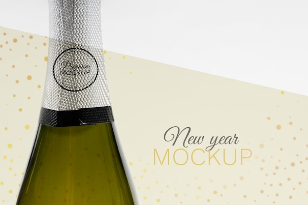 Butelka szampana makieta nowy rok