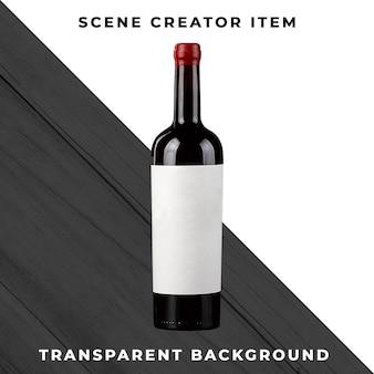 Butelka wina na przezroczystym tle