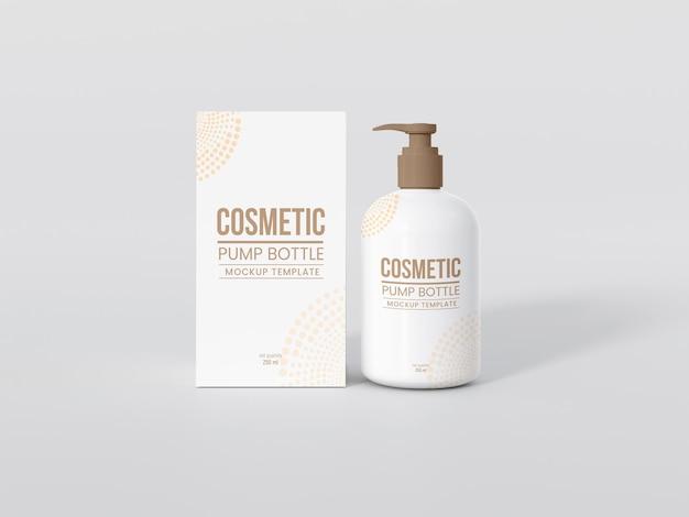 Butelka z pompką kosmetyczną z makietą pudełek