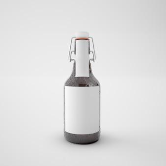 Butelka z pustą etykietą