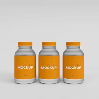 Butelka z suplementem 3d z tworzywa sztucznego