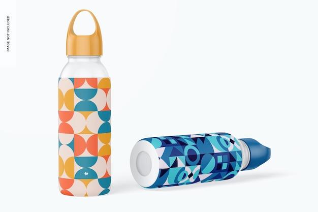 Butelki na wodę z makietą silikonowego rękawa