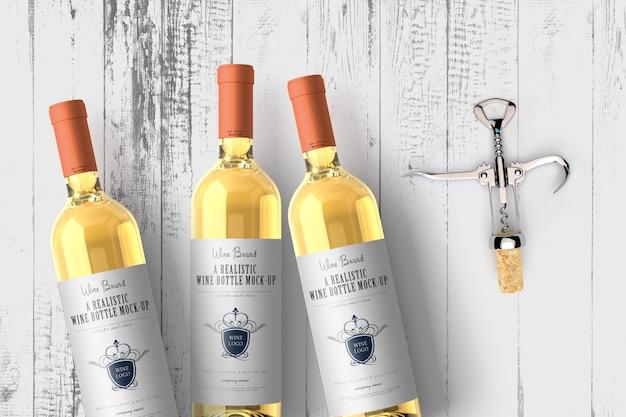 Butelki wina makieta