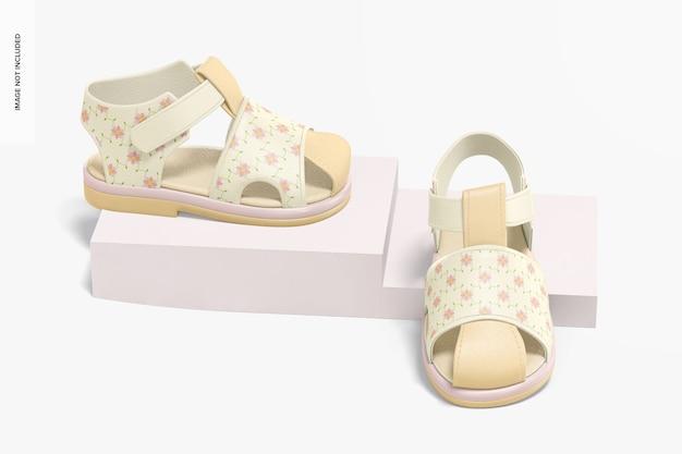 Buty dziecięce makieta