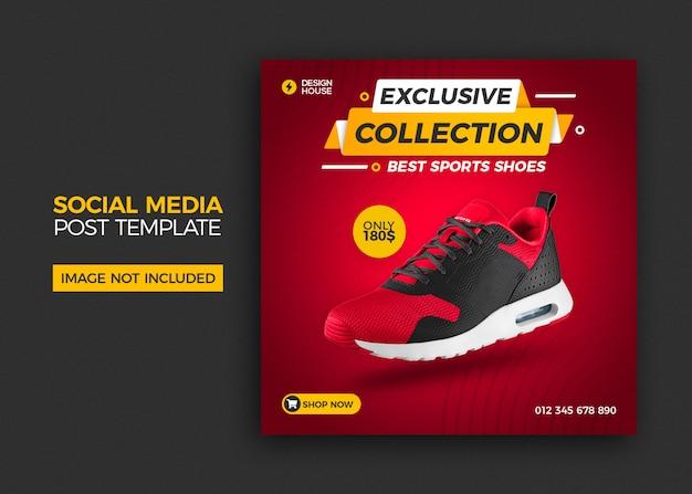 Buty sprzedaż szablon postu w mediach społecznościowych