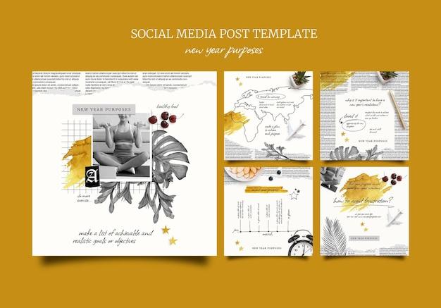 Cele noworoczne i zestaw postów