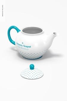Ceramiczny Czajniczek Makieta Premium Psd
