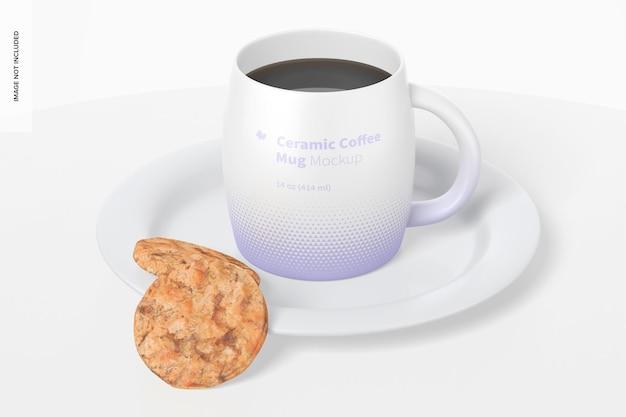 Ceramiczny kubek do kawy o pojemności 14 uncji z makietą ciasteczek