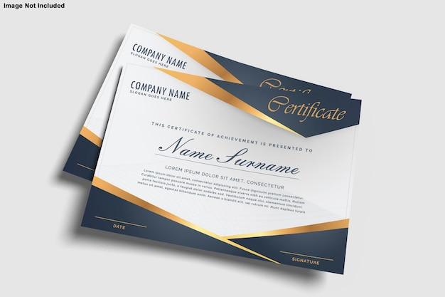 Certyfikat projekt makieta