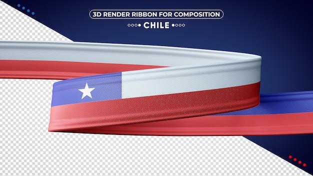 Chile wstążka renderowania 3d dla składu