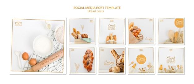 Chleb koncepcja mediów społecznych szablon szablonu