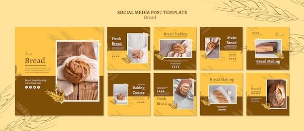 Chleb robiąc posty w mediach społecznościowych
