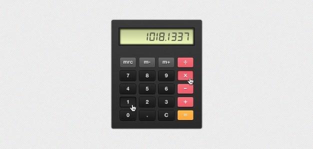 Chunky kalkulator (psd)