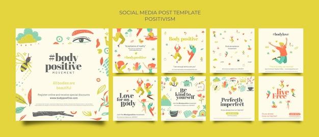 Ciało pozytywne posty w mediach społecznościowych