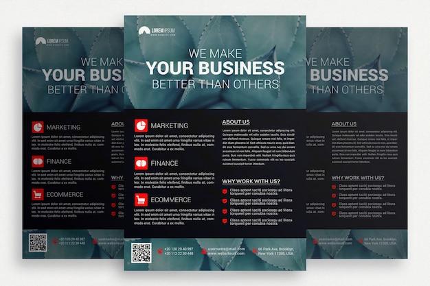 Ciemna broszura biznesowa