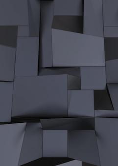 Ciemne tło z geometrycznymi kształtami
