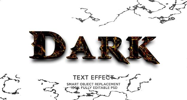 Ciemny szablon efektu tekstowego