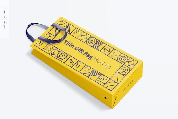 Cienka torba prezentowa z makietą ze wstążką