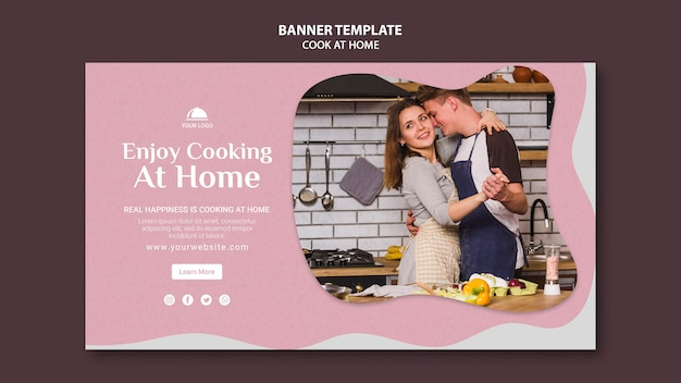 Ciesz się gotowaniem w domu szablon banner