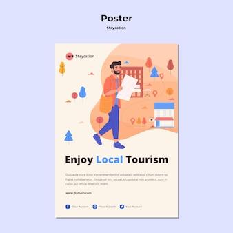 Ciesz się lokalnym stylem plakatu turystycznego