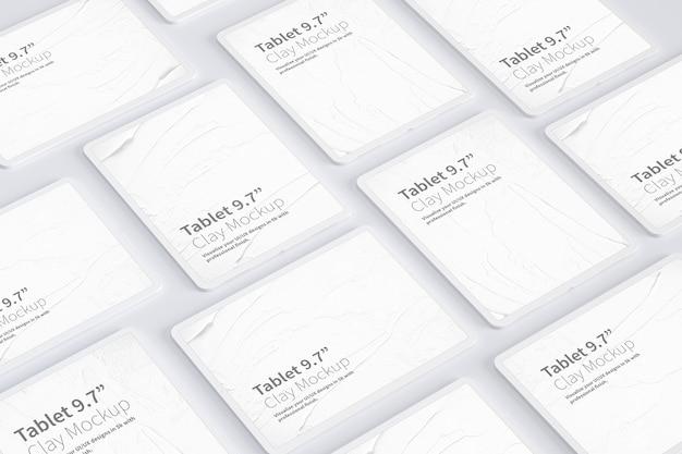 """Clay tablet pro 12,9 """"makieta, układ siatki"""