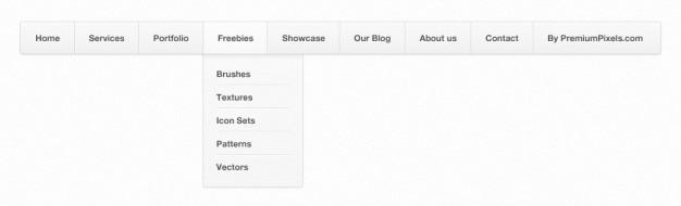 Clean & simple menu nawigacji (psd)
