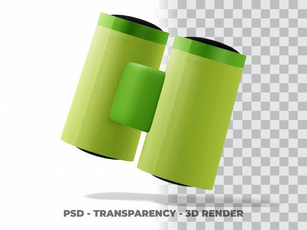 Clipart lornetki 3d z przezroczystym tłem