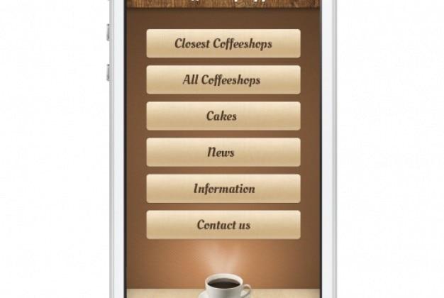 Coffeshop ekran dla telefonów komórkowych
