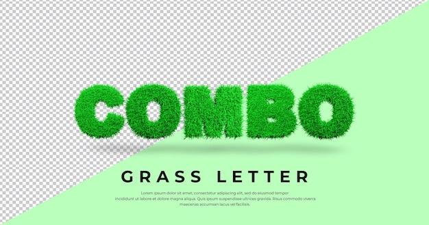 Combo z trójwymiarowym wzorem trawy
