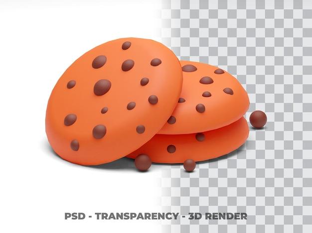 Cookies przejrzystość renderowanie 3d