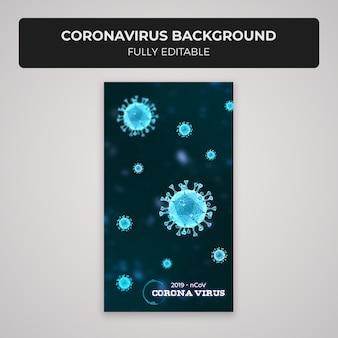 Coronavirus instagram opowiadania projekt tła