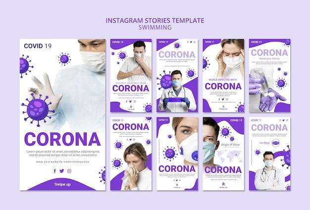 Coronavirus instagram story