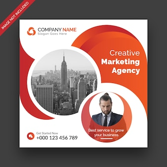 Corporate business instagram post social media web banner i kwadratowy szablon projektu ulotki