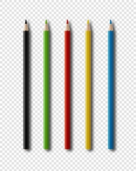 Coulouring ołówki odizolowywający na bielu