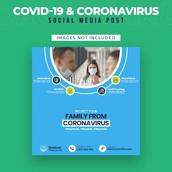 Covid-19 i ulotka coronavirus media społecznościowe