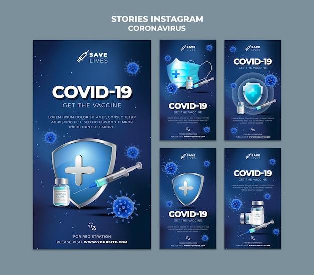 Covid 19 opowiadań na instagramie